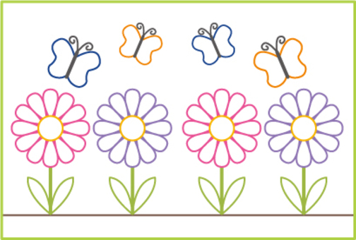 蝴蝶和花朵