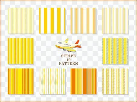 條紋圖案(黃色)