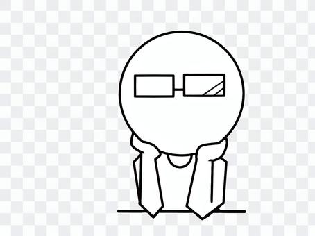 The idea of stick figures (glasses)