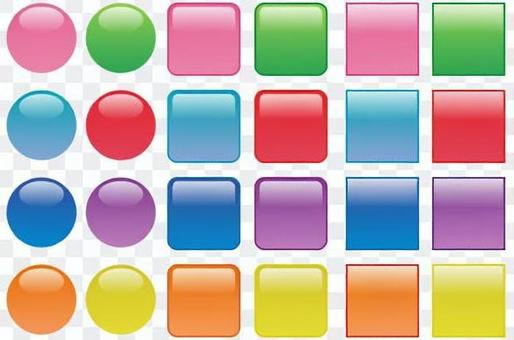 按鈕水族館(圓形,方形)