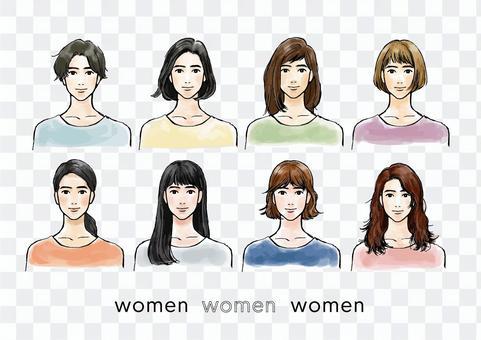 一個女人的插圖