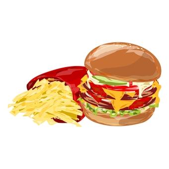漢堡包和土豆