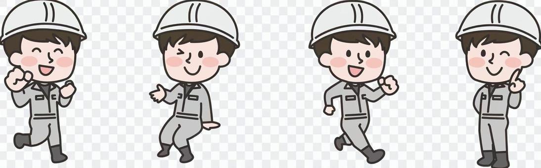 兩頭身體_土木工程工人男套裝