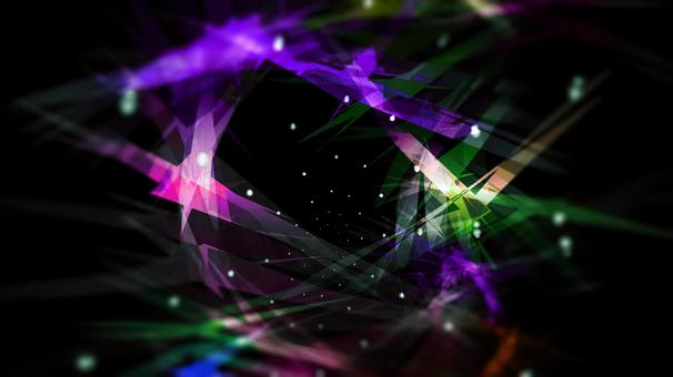 Black background, colorful and abstract design
