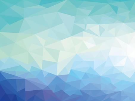 Blue green polygon pattern pattern background material