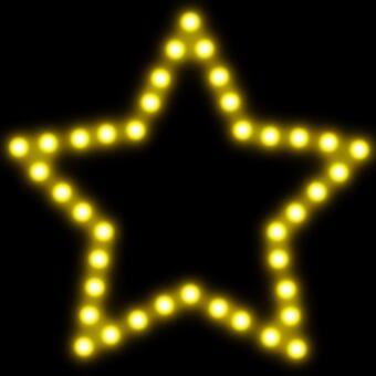 星型霓虹燈