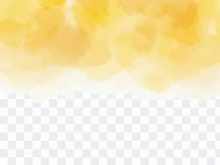 水彩背景イエロー