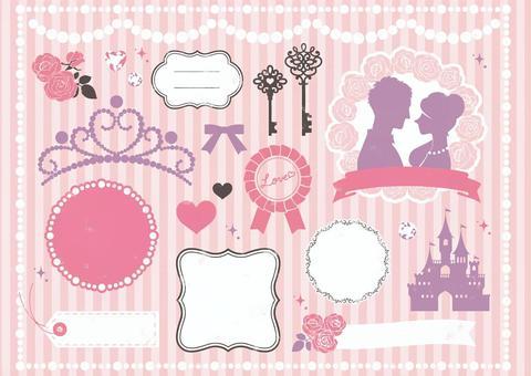 婚礼和公主邮票