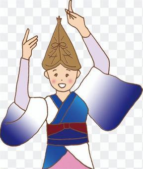 Awaodori(女性舞蹈/半身)