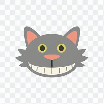 Cat - Cheshire Cat's face laughing like a cat