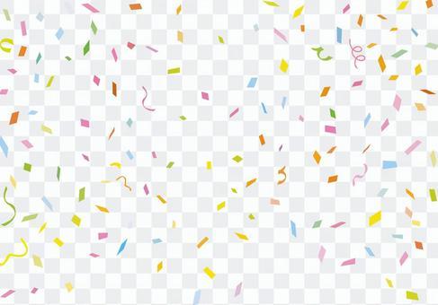 背景五彩紙屑剪影例證牆紙