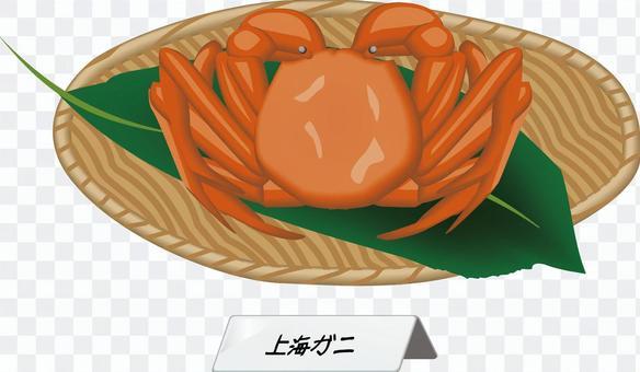 上海蟹蟹蟹甲殼類食品產品