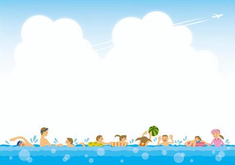 Background (family bathing)