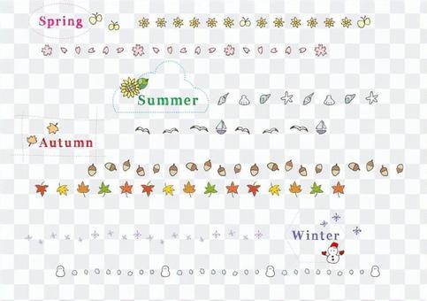 Seasonal line color _