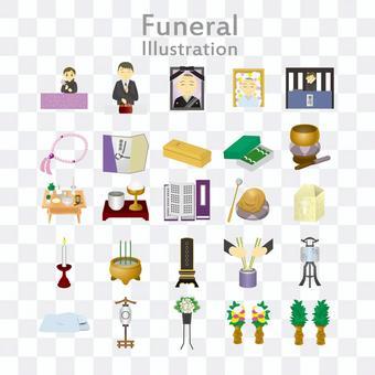 葬式イラストパック
