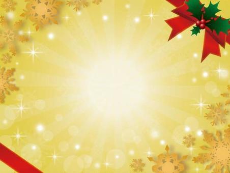 背景(ゴージャスクリスマス、黄色)