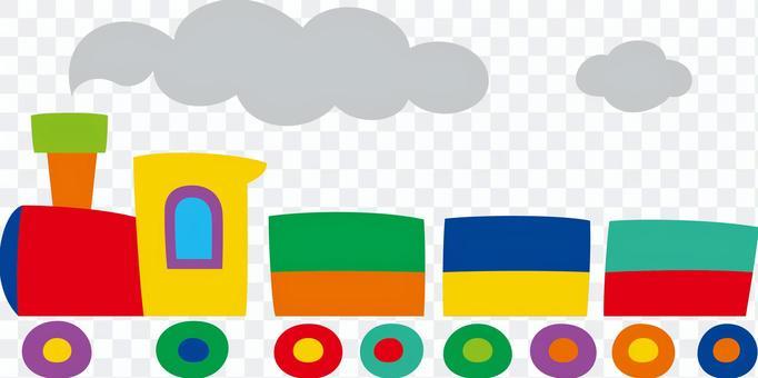 多彩和流行的火車