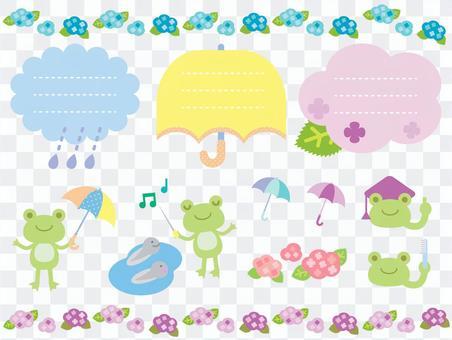 六月青蛙插圖