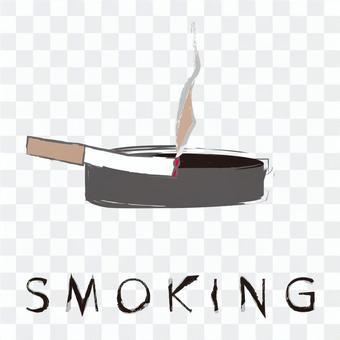 吸煙區畫筆繪畫