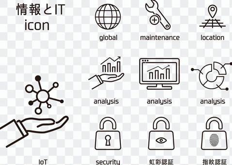 信息和IT圖標集