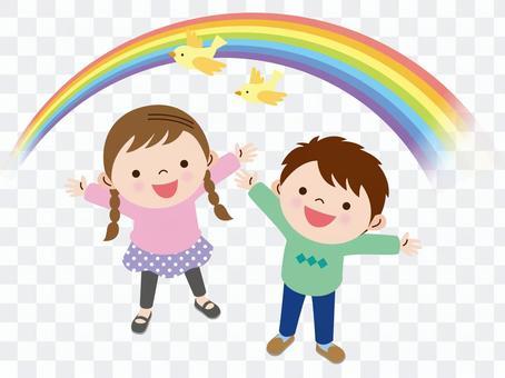 彩虹和孩子