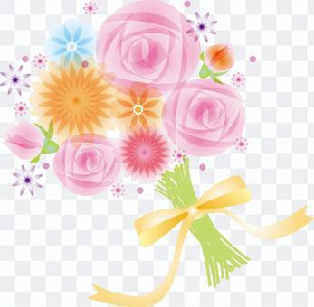 花卉圖案玫瑰花束
