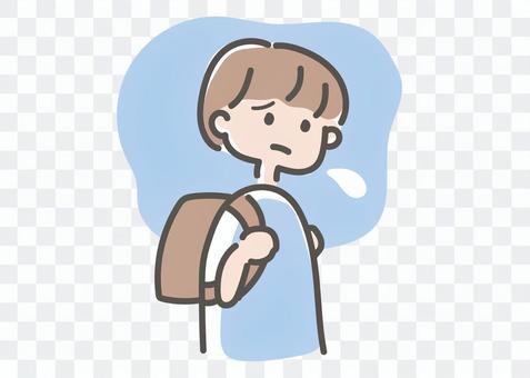 学校に行きたくない子ども(男の子)