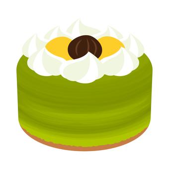 Cake matcha marron cream