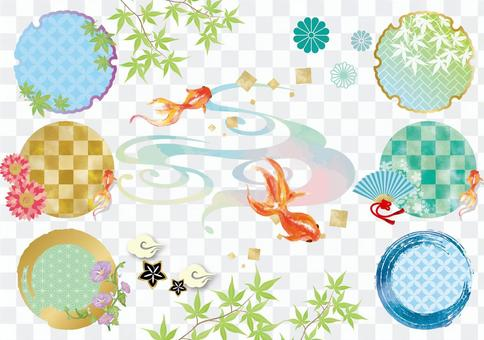 Goldfish frame background material