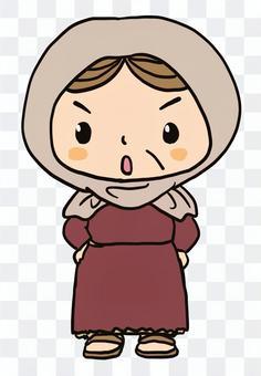 憤怒的老婦的聖經人物