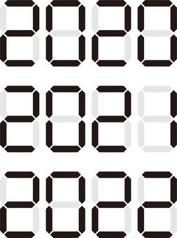 2020 → 2021 → 2022 字符