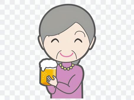 A toast with beer Ladies