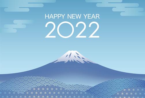 2022 Mt. Fuji New Year's card template