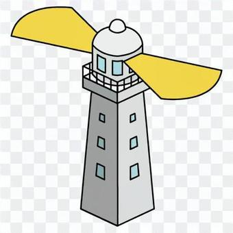 燈塔(帶窗戶軌道燈)