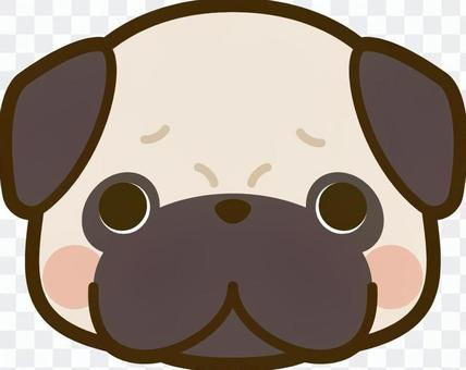 犬の顔 パグ