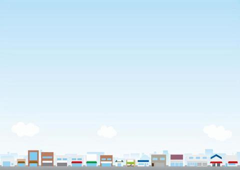 Cityscape Background series Shopping district