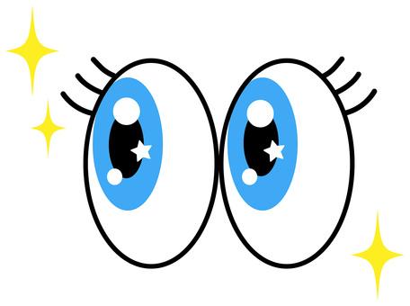 Glittering blue eyes icon