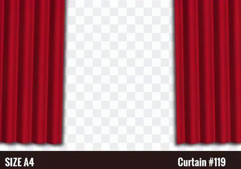 舞台的紅色帷幕圖