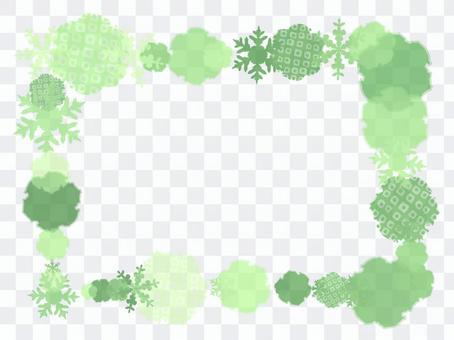 Snow ring frame (green)