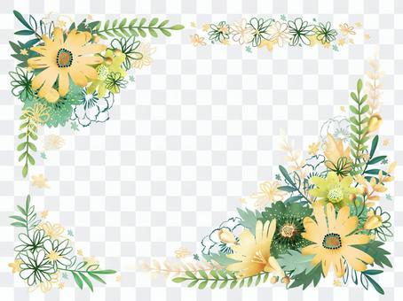 斯堪的納維亞風格水彩框架水平構圖