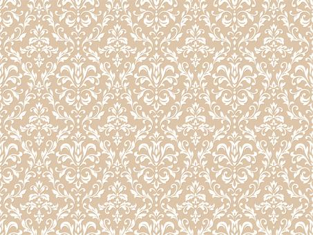 Damask wallpaper beige