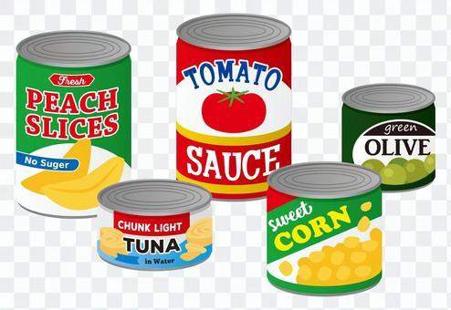 罐頭食物集合