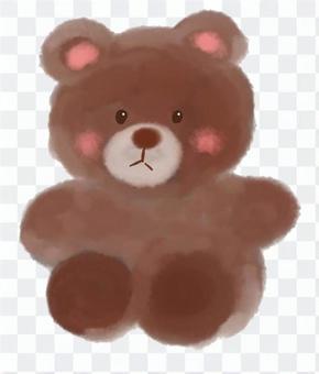 蓬松熊的毛绒玩具