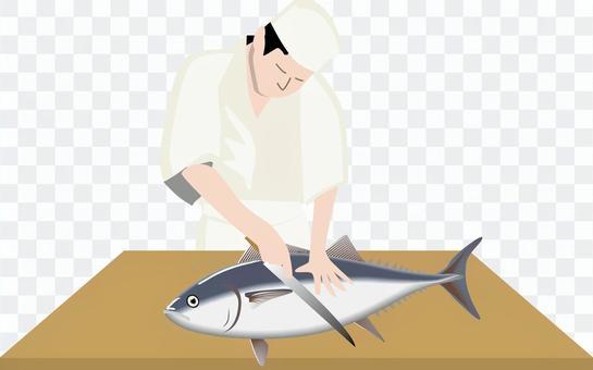 金槍魚的判別展示工匠日語