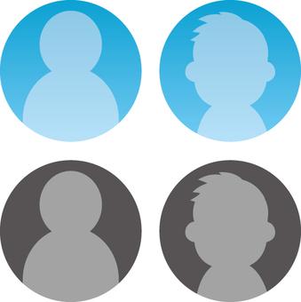 Profile servant icon set