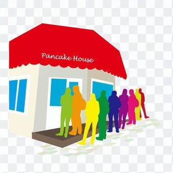 Popular pancake shop