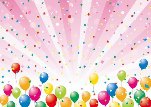 氣球和集中線_背景材料02