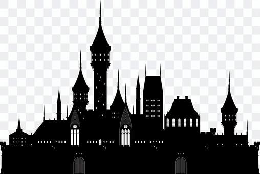 西洋の城 シルエット