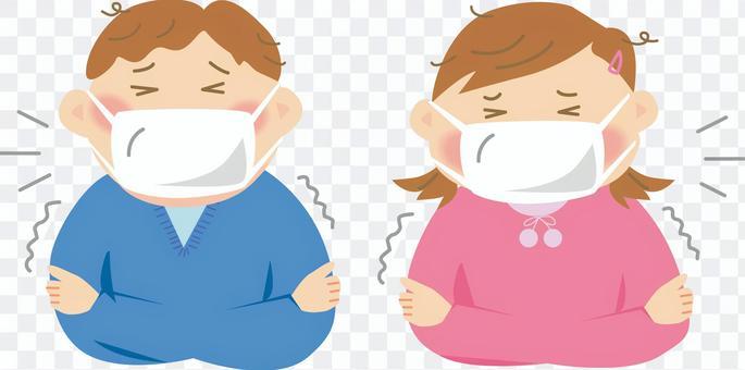 我感冒了。