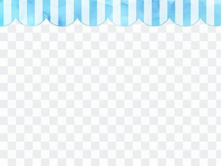 水彩條紋框架1淡藍色